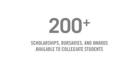 200+ Scholarships, bursaries and awards available to Collegiate Students Get the details
