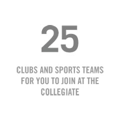 25 Clubs and Sports teams for you to join at the Collegiate Find your fit